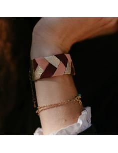 Bracelet Bordeaux x Rose - Alma Créations - Comptoir Doré