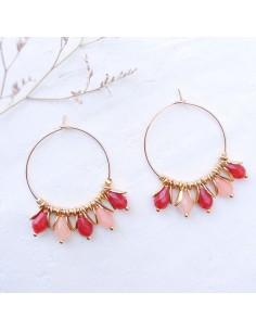 Boucles d'oreilles Pénélope Pink