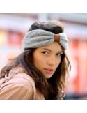 Bandeau Chelsea Gris - bandeau hiver laine - Comptoir Doré