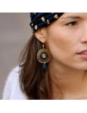 Boucles d'oreilles tissées Cana émail - MdB Créations - Comptoir Doré