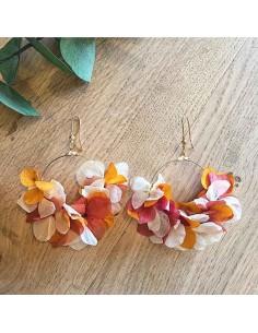 Boucles d'oreilles Alcé - fleurs stabilisées - FlowerbyB - Comptoir Doré