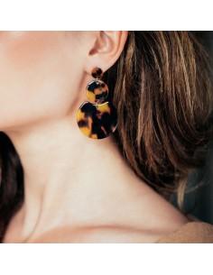 Boucles d'oreilles Louve écaille - Séraphine Bijoux - Comptoir Doré