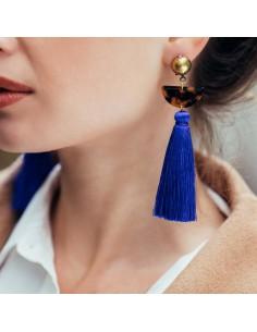 Boucles d'oreilles Guilia Bleu - Séraphine Bijoux - Comptoir Doré