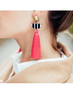Boucles d'oreilles Guilia Rose - Séraphine Bijoux - Comptoir Doré