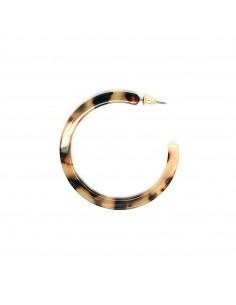 Boucles d'oreilles Fabiola - créoles écailles - Séraphine Bijoux - Comptoir Doré