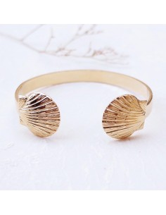 Bracelet Oscar - jonc coquillages - SIR Jane - Comptoir Doré