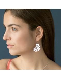 Boucles d'oreilles en argent Selene - Soiz Bijoux - Comptoir Doré