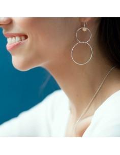 Boucles d'oreilles en argent Eos - Soiz Bijoux - Comptoir Doré