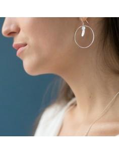 Boucles d'oreilles en argent Aura - Soiz Bijoux - Comptoir Doré