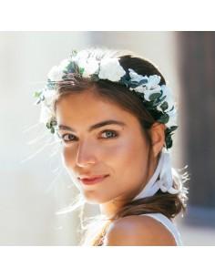 Couronne de fleurs Alexandrie - fleurs stabilisées - Céligné Paris - Comptoir Doré