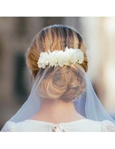 Peigne Blanche - peignée mariée pour voile - Céligné Paris - Comptoir Doré