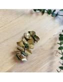 Barrette fleurs stabilisées Vesta Gold - hortensias & eucalyptus - BFlower - Comptoir Doré
