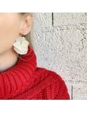 Boucles d'oreilles Ella - fleurs d'hortensias stabilisées - BFlower - Comptoir Doré