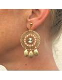 Boucles d'oreilles tissées Cana Gouttes - MdeB Créations - Comptoir Doré