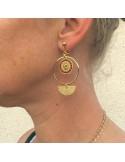 Boucles d'oreilles tissées Prisca - MdeB Créations - Comptoir Doré