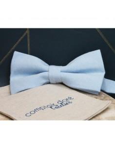 Noeud Papillon Gaston Chambray Bleu Ciel - Comptoir Doré