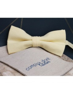 Noeud Papillon Gaston Chambray Jaune - Comptoir Doré