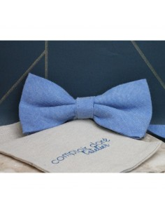 Noeud Papillon Gaston Chambray Bleu - Comptoir Doré