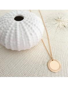 Collier Solar (à graver) - collier médaille à graver - Parabaya - Comptoir Doré