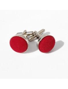 Boutons de manchette Feutre Rouge