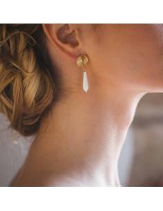 Boucles d'oreilles Chiara - boucles d'oreilles mariéie - Mathilde Forget - Comptoir Doré