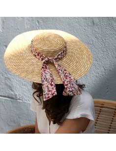 Capeline Romy x Eleanor - chapeau de paille bandeau fleuri - Comptoir Doré