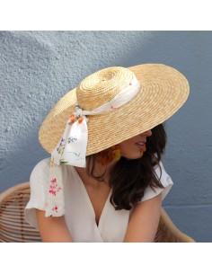 Capeline Romy x Emma - chapeau de paille bandeau fleuri - Comptoir Doré