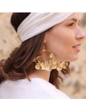 Créoles Cléo - boucles d'oreilles fleurs stabilisées - BFlower - Comptoir Doré