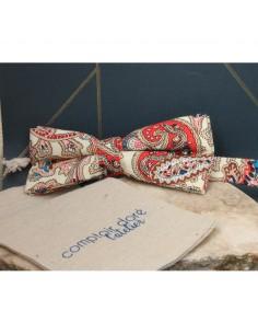 Noeud Papillon Imprimé Cachemire Beige