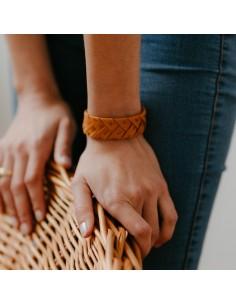Bracelet Brodé Terracotta - Alma Créations - Comptoir Doré