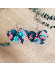 Boucles d'oreilles fleurs stabilisées Akka - BFlower - Comptoir Doré