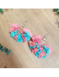 Boucles d'oreilles fleurs stabilisées Anguilitia - BFlower - Comptoir Doré