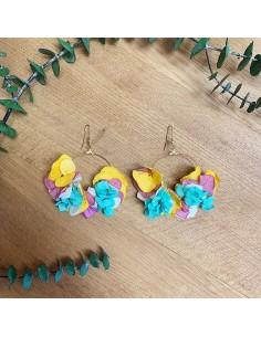 Boucles d'oreilles fleurs stabilisées Atira - BFlower - Comptoir Doré