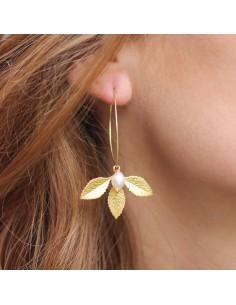 Boucles d'oreilles Faustine Perle - MdeB Créations - Comptoir Doré