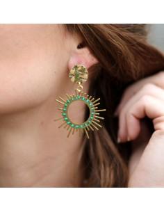 Boucles d'oreilles Sun