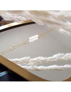 Bracelet Camille -  Pierre de lune - Ginandger - Comptoir Doré
