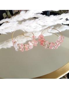 Boucles d'oreilles Prisca Quartz