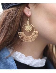 Boucles d'oreilles Bodri Doré - MdeB Créations - Comptoir Doré