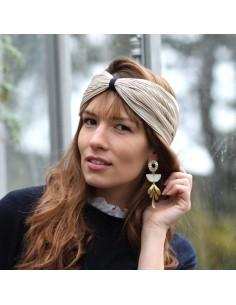 Bandeau Alba - headband doré brillant - Comptoir Doré