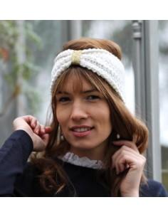 Bandeau tricot Daphnée écru - Comptoir Doré