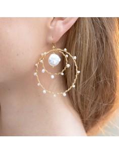 Boucles d'oreilles Alba - Séraphine Bijoux - Comptoir Doré