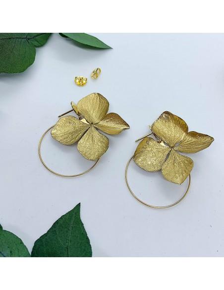 Boucles d'oreilles Anat Gold - BFlower - Comptoir Doré