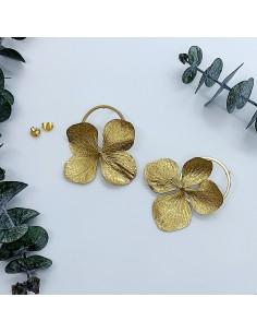Boucles d'oreilles Eris Gold - BFlower - Comptoir Doré