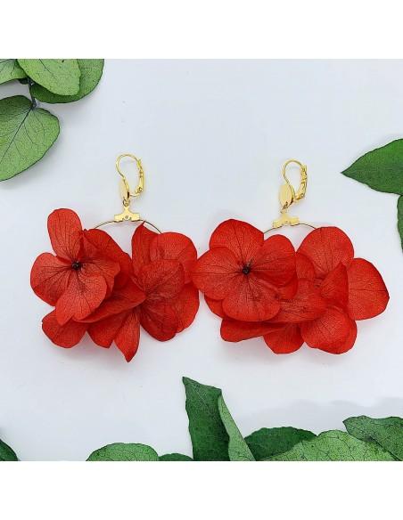 Boucles d'oreilles Mini Rhea - Fleurs stabilisées - BFlower - Comptoir Doré
