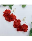 Boucles d'oreilles Rhea - fleurs stabilisées - BFlower - Comptoir Doré