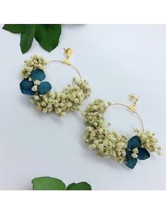 Boucles d'oreilles Dane - fleurs stabilisées - BFlower - Comptoir Doré