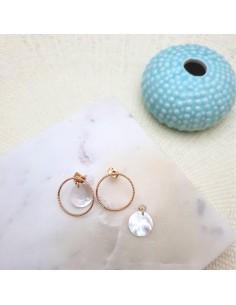 Boucles d'oreilles Nacar - Parabaya - Comptoir Doré