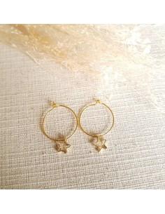 Boucles d'oreilles Tyfen Etoiles - Gindandger - Comptoir Doré