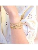 Bracelet Jude - bracelet martelé fleuri - SIR Jane - Comptoir Doré