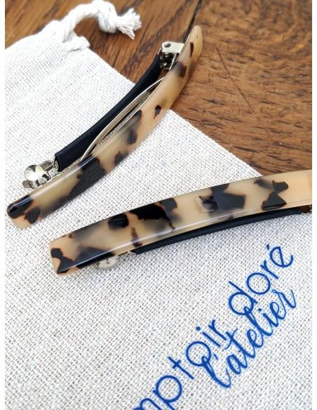 Barrette Louison Fine - barrette écaille - Comptoir Doré
